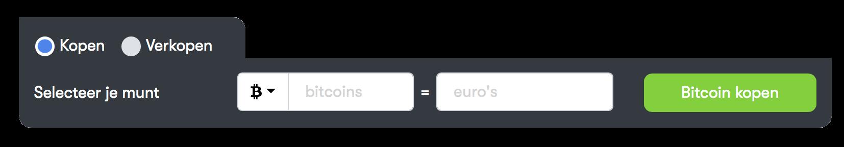 Calculator voor BTC kopen
