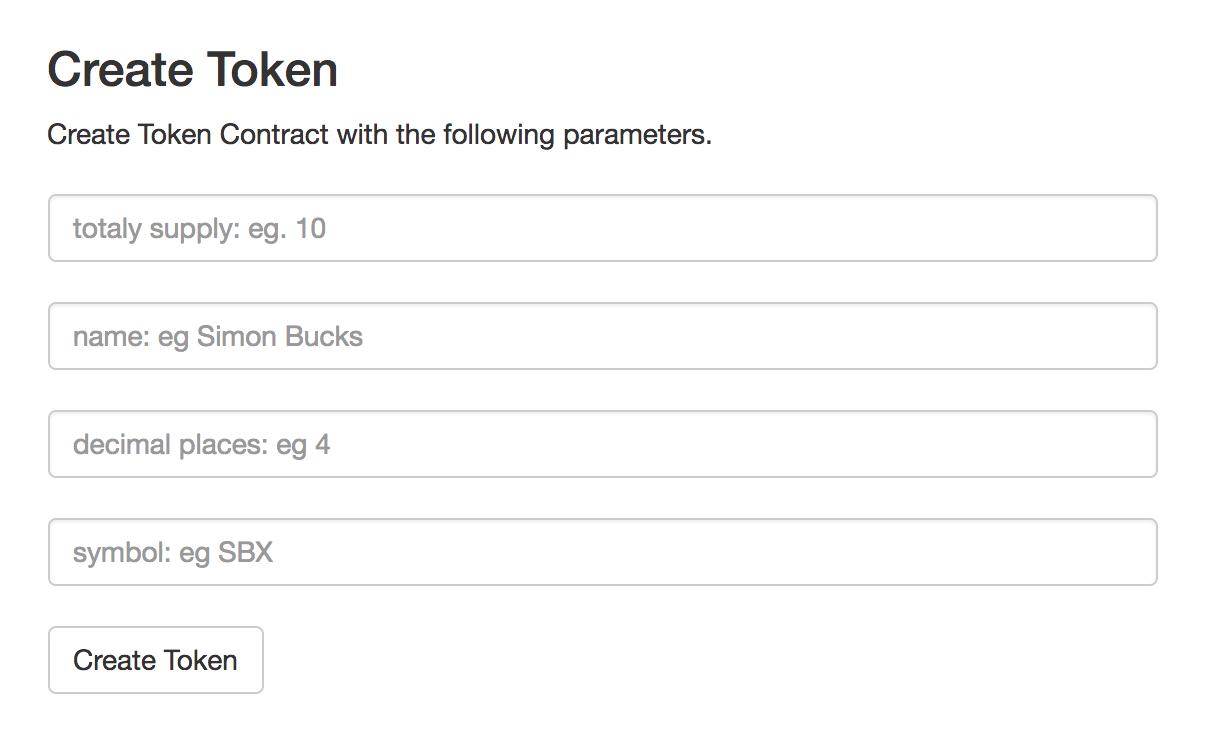 Token Ethereum bouwen