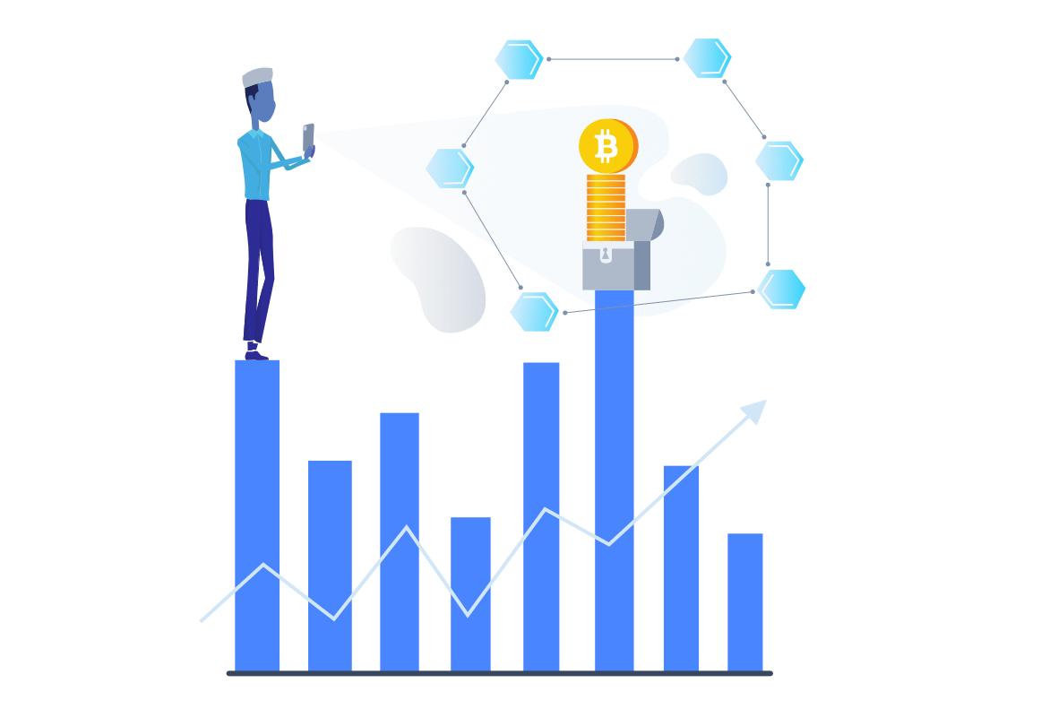 De waarde van een bitcoin ofwel bitcoin koers