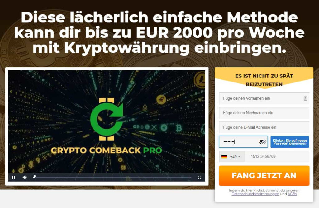 crypto comeback pro startpagina