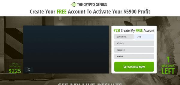 crypto genius dasboard