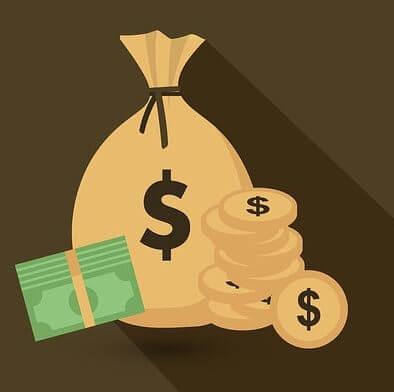 geldzak en munten