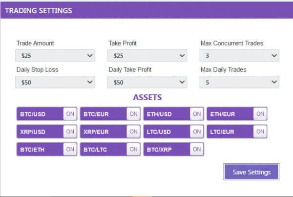handelsinstellingen bitcoin trader