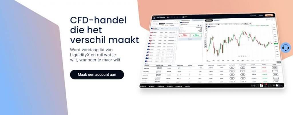 Afbeelding van de verschillende forex paren die via het platform LiquidityX kunnen worden verhandeld en de gemiddelde spread voor elk van deze paren.