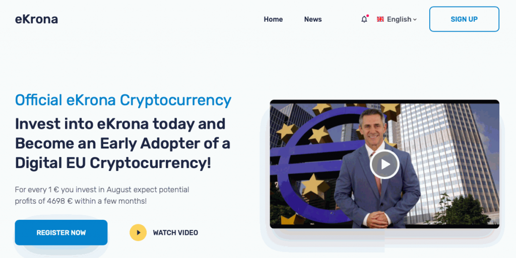 ekrona main page