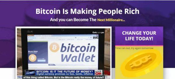 Homepagina van Bitcoin Fortress